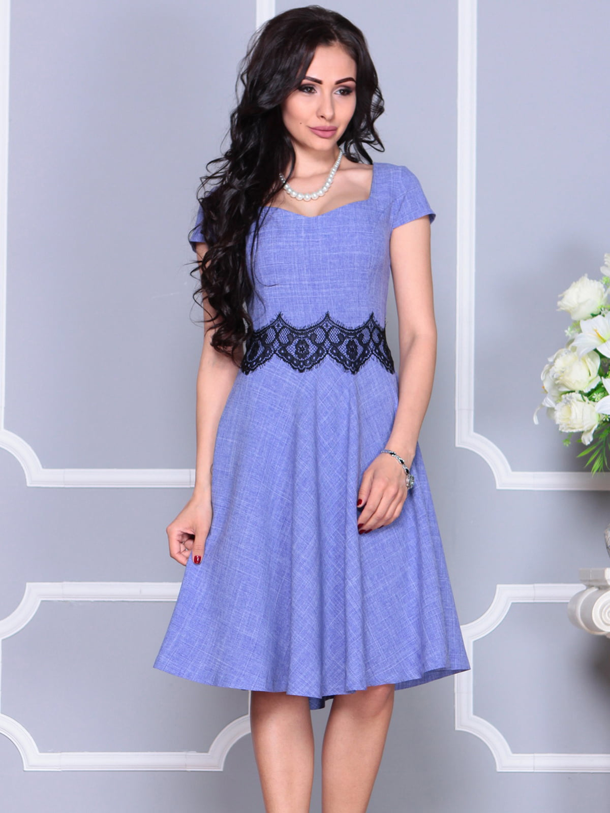 Платье фиолетовое | 4261218 | фото 4