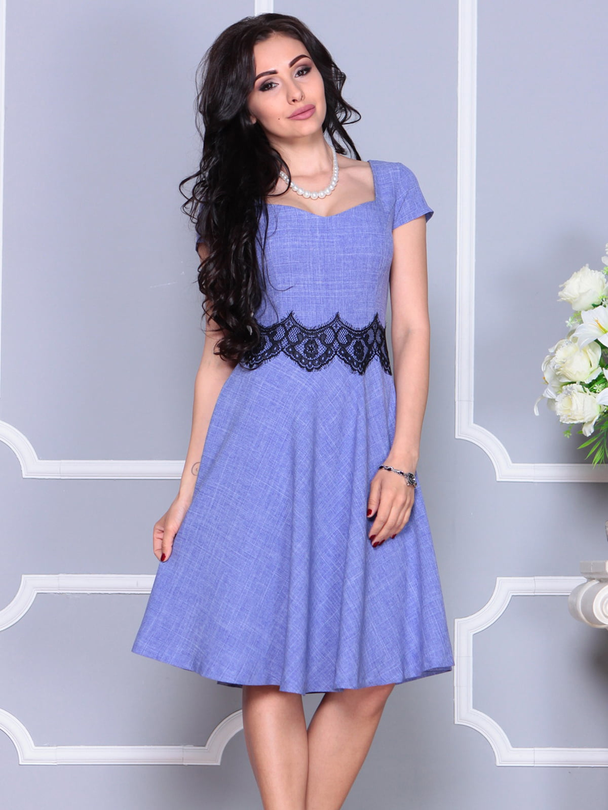 Платье фиолетовое | 4261218 | фото 5