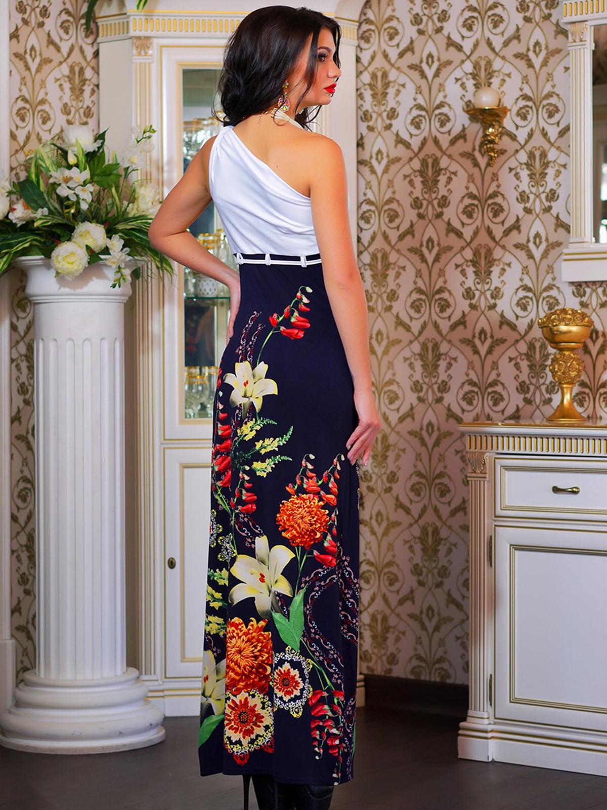 Сукня біла в квітковий принт | 4262960 | фото 3
