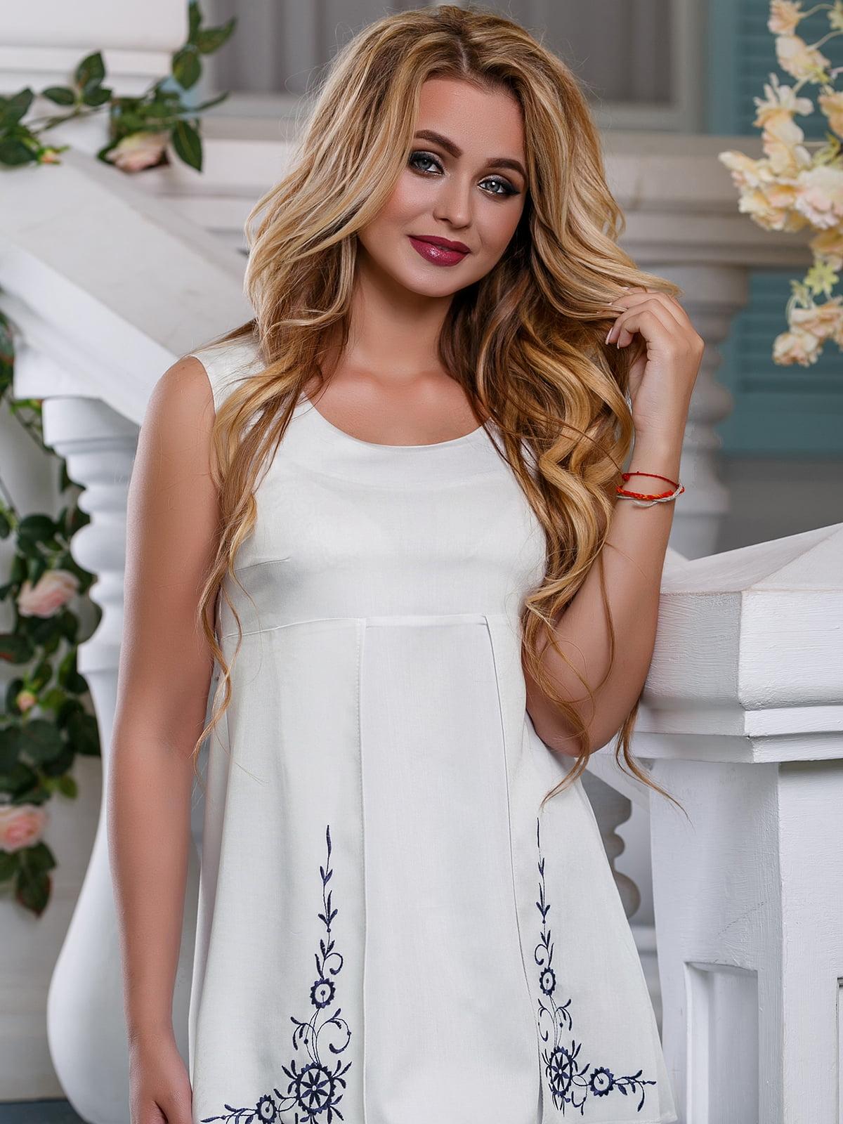 Блуза-туніка молочного кольору   4262997   фото 3