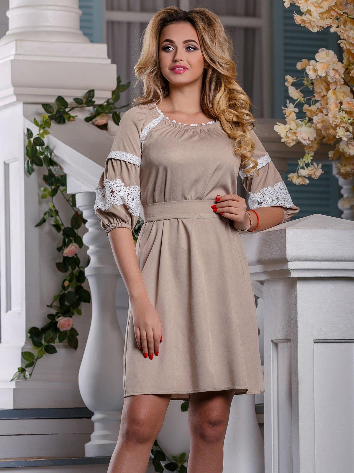 Платье бежевое   4263013