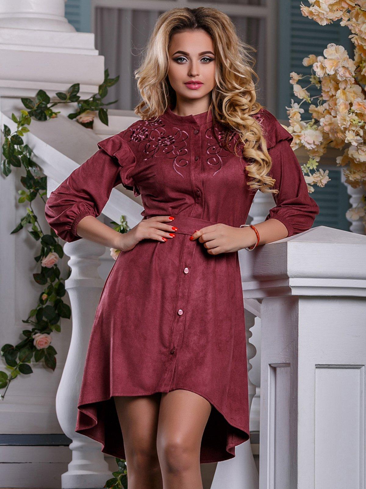 Платье цвета марсала | 4263027