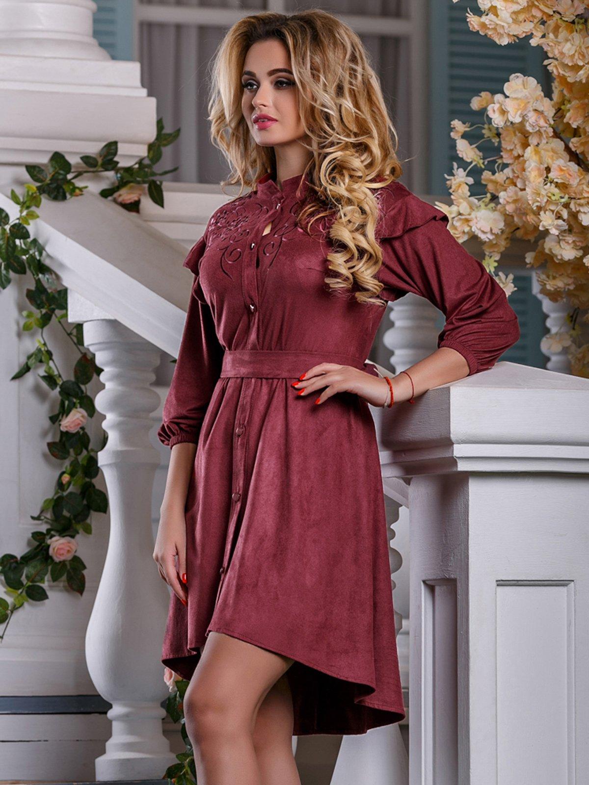Сукня кольору марсала   4263027   фото 2