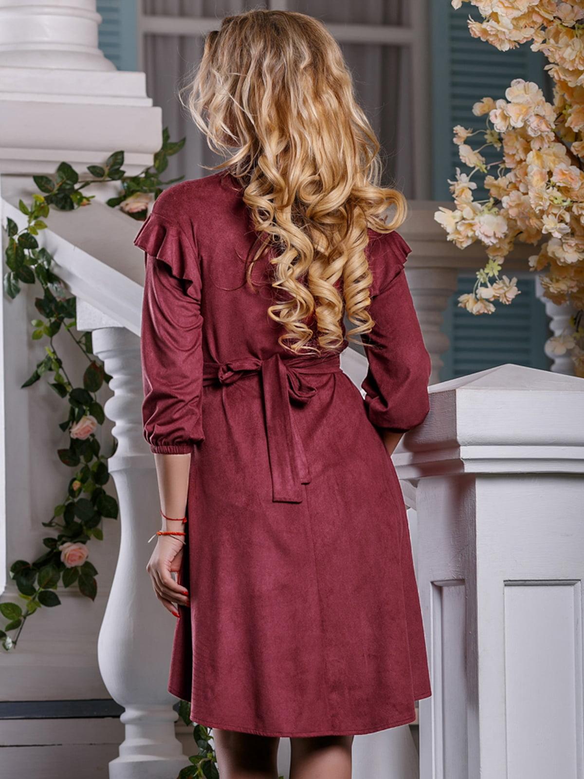 Сукня кольору марсала   4263027   фото 4