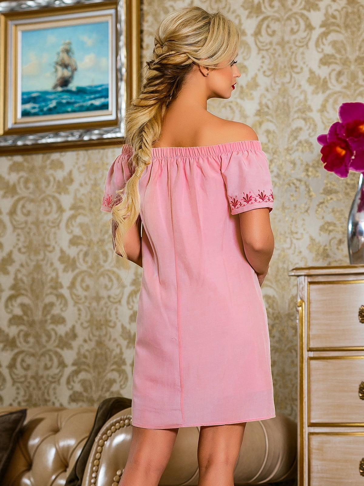 Сукня рожева з квітковим принтом | 4263038 | фото 4