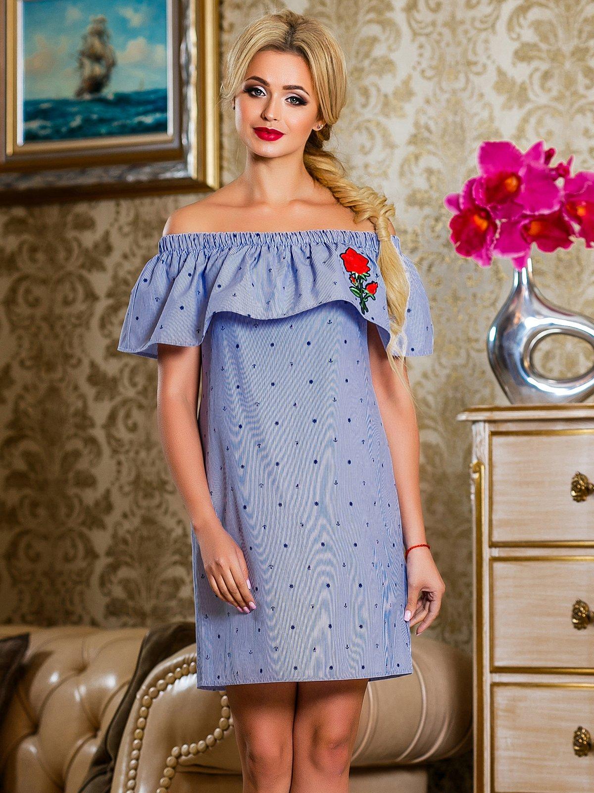 Сукня синя в смужку | 4263041 | фото 2