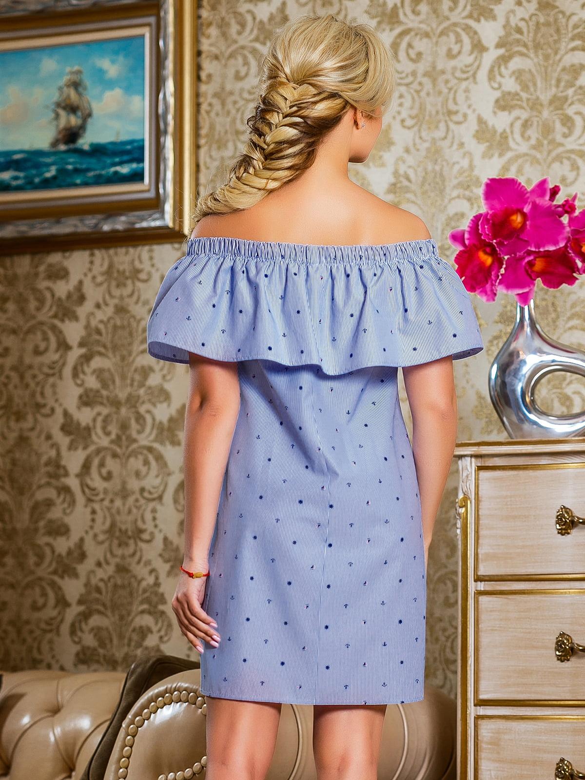 Сукня синя в смужку | 4263041 | фото 4