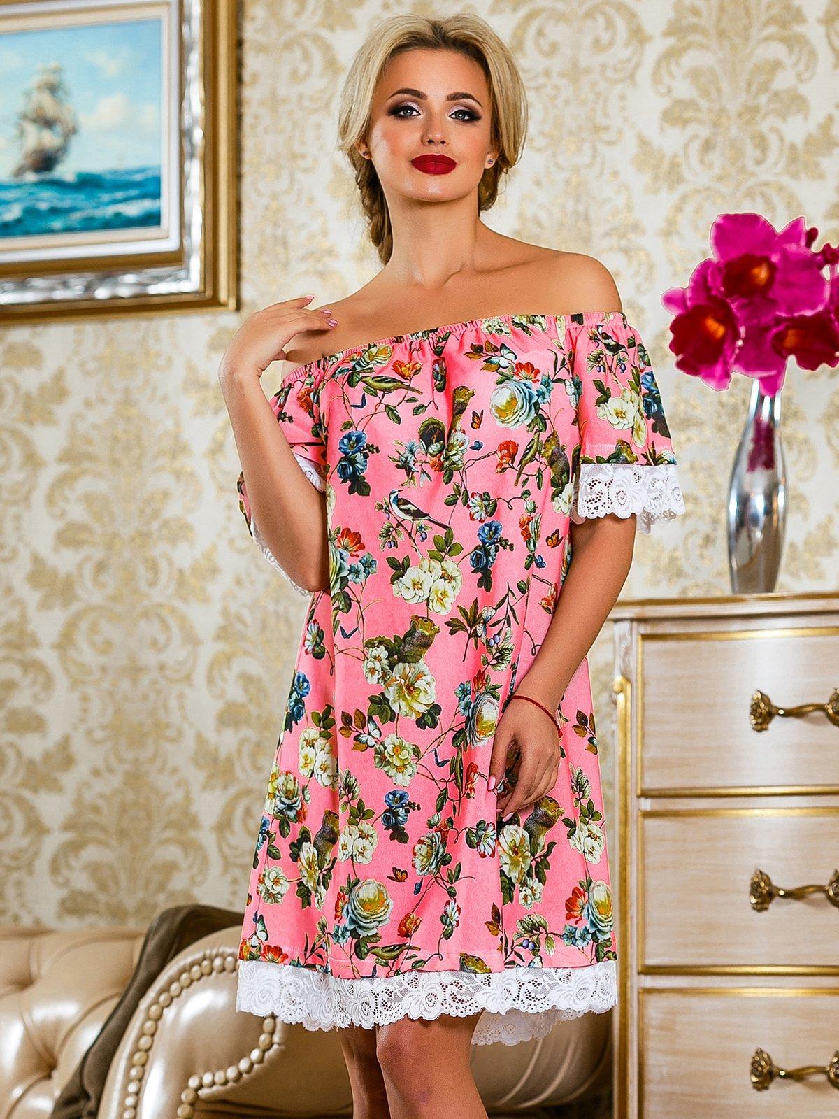 Сукня рожева у квітковий принт | 4263042 | фото 2
