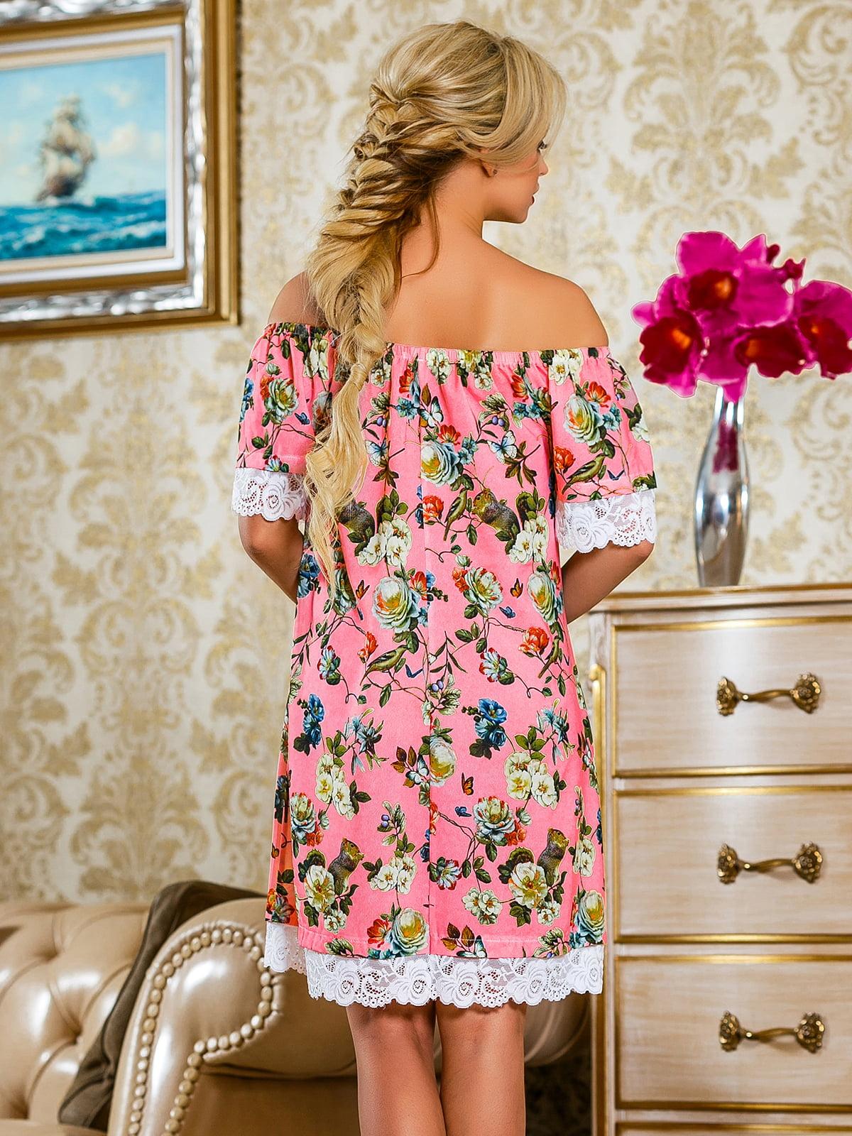 Сукня рожева у квітковий принт | 4263042 | фото 5