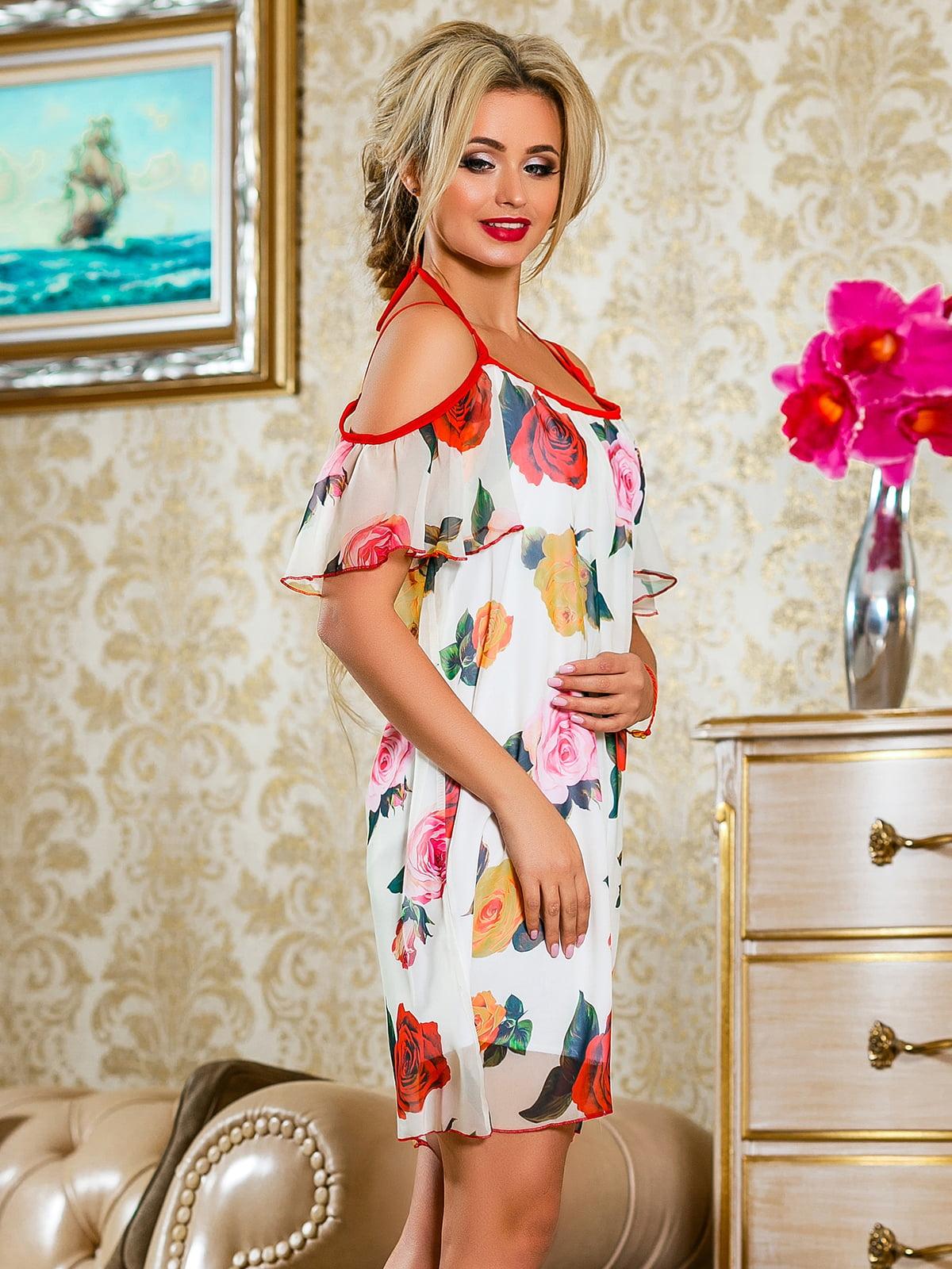 Сукня червона у квітковий принт | 4263050 | фото 3