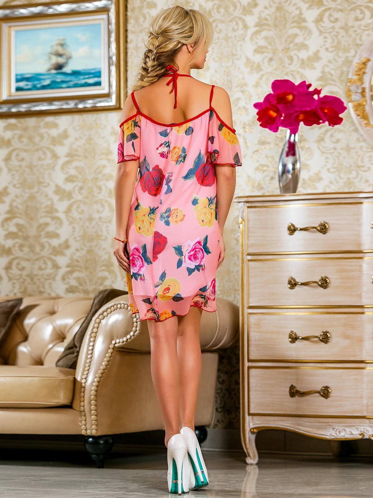 Сукня рожева у квітковий принт | 4263052 | фото 4