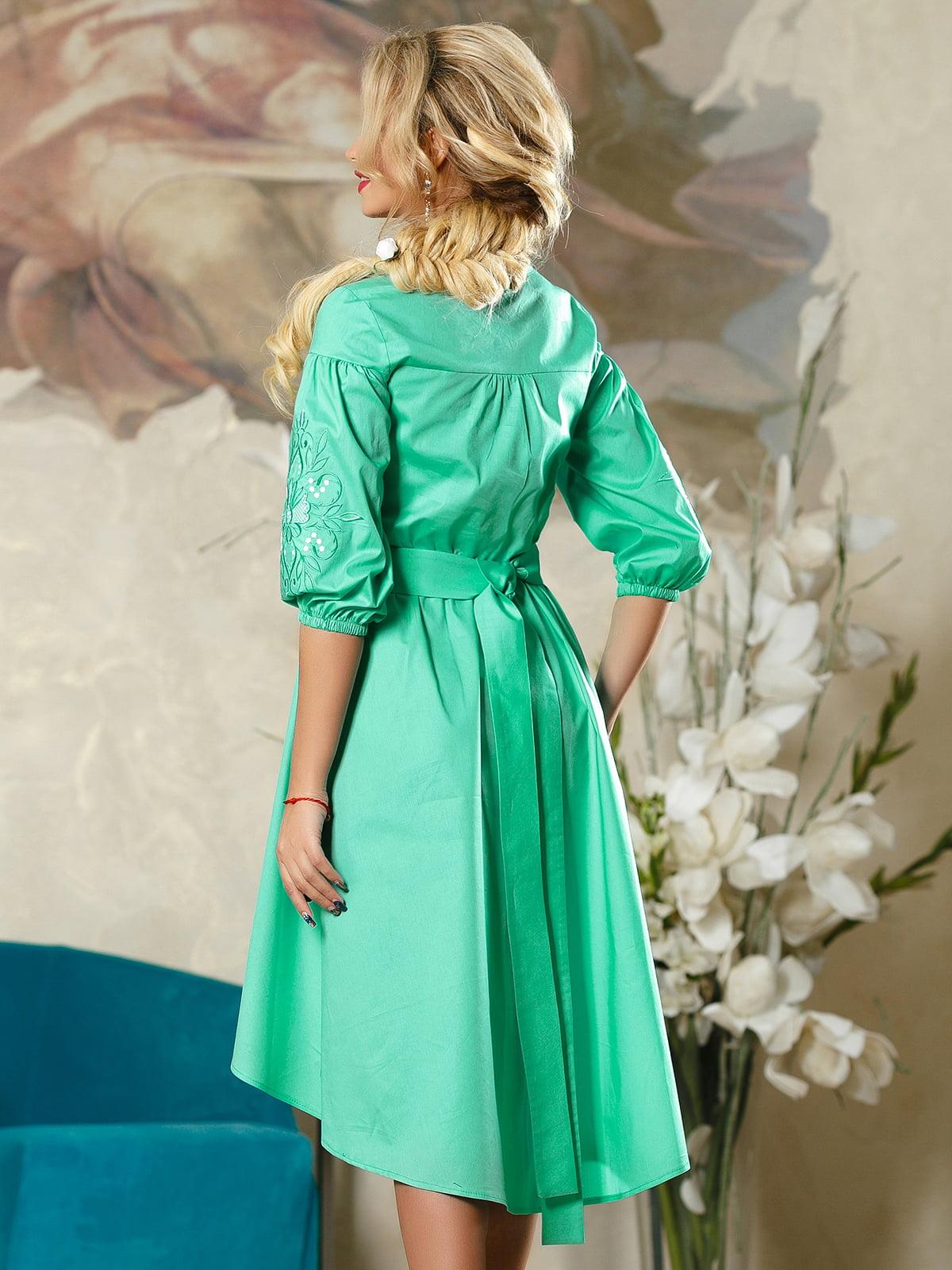 Сукня бірюзова | 4263075 | фото 4