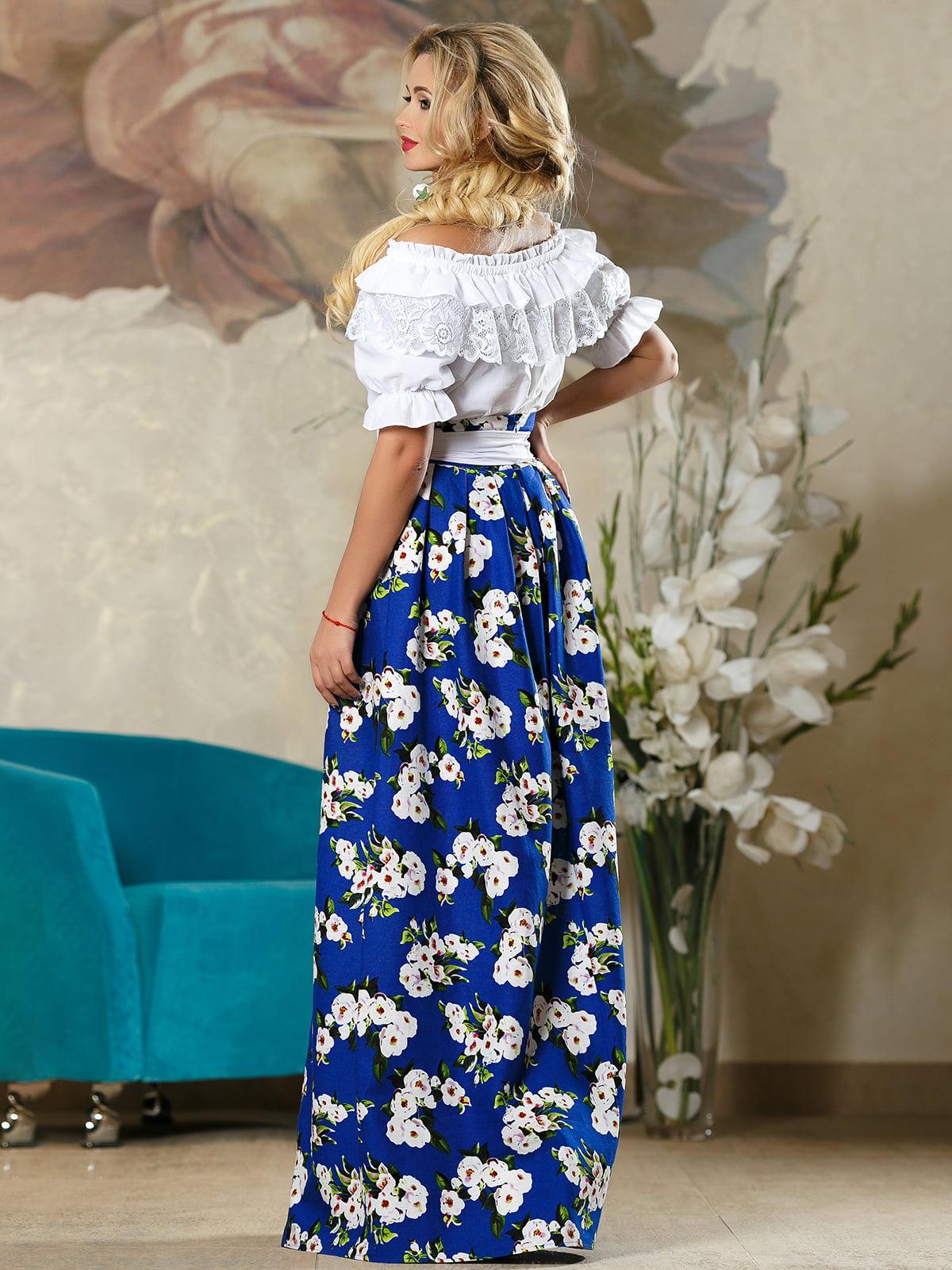 Спідниця синя в квітковий принт   4263081   фото 5