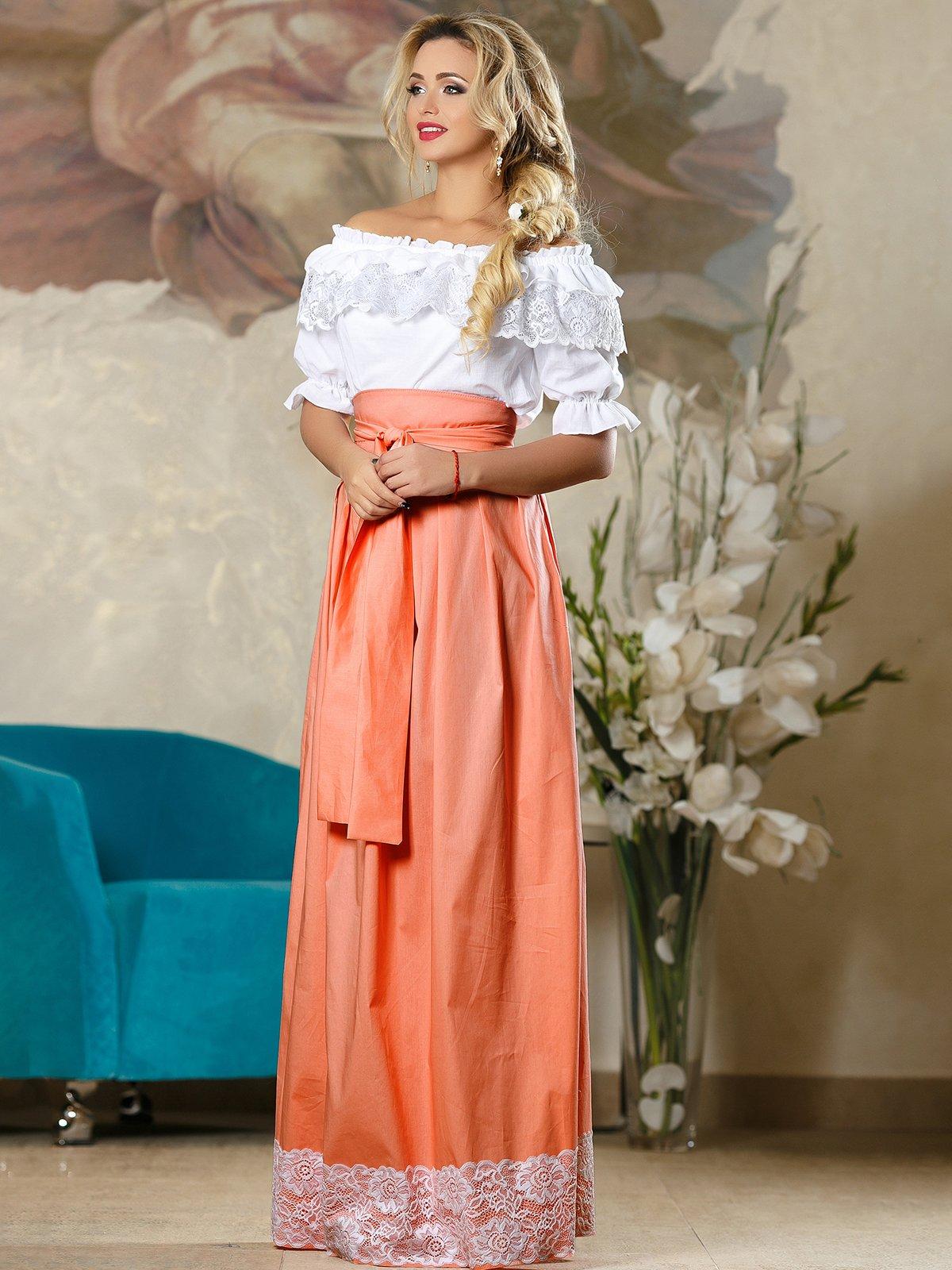 Спідниця персикового кольору | 4263082 | фото 2