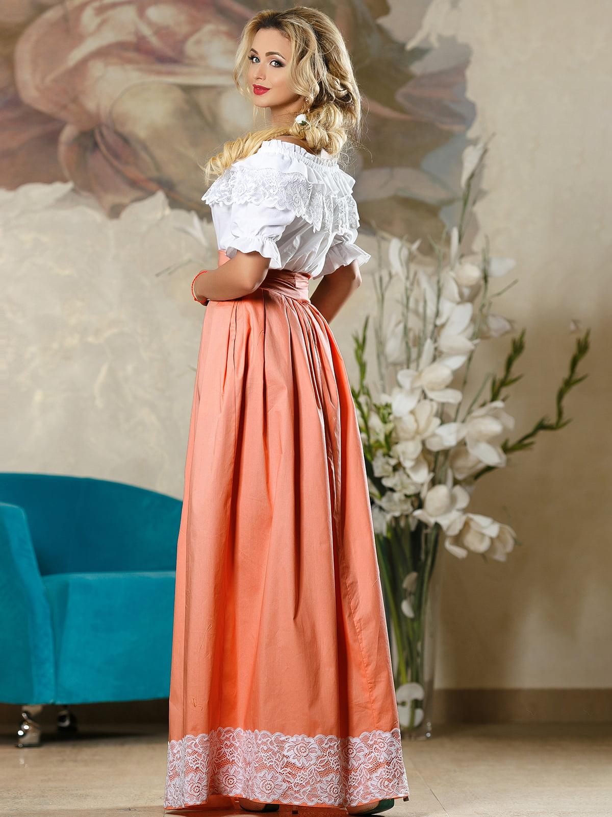 Спідниця персикового кольору | 4263082 | фото 4
