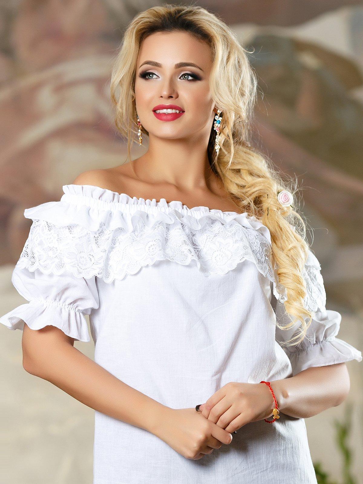 Блуза біла | 4263094