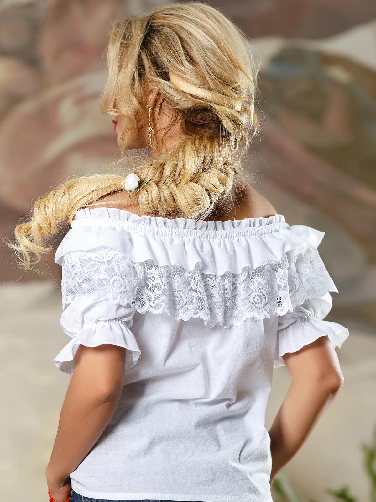 Блуза біла | 4263094 | фото 4