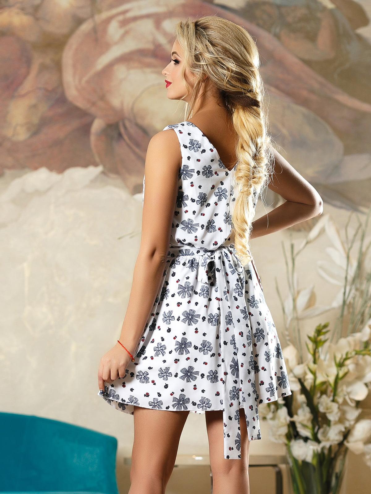 Сукня біла в принт | 4263097 | фото 3