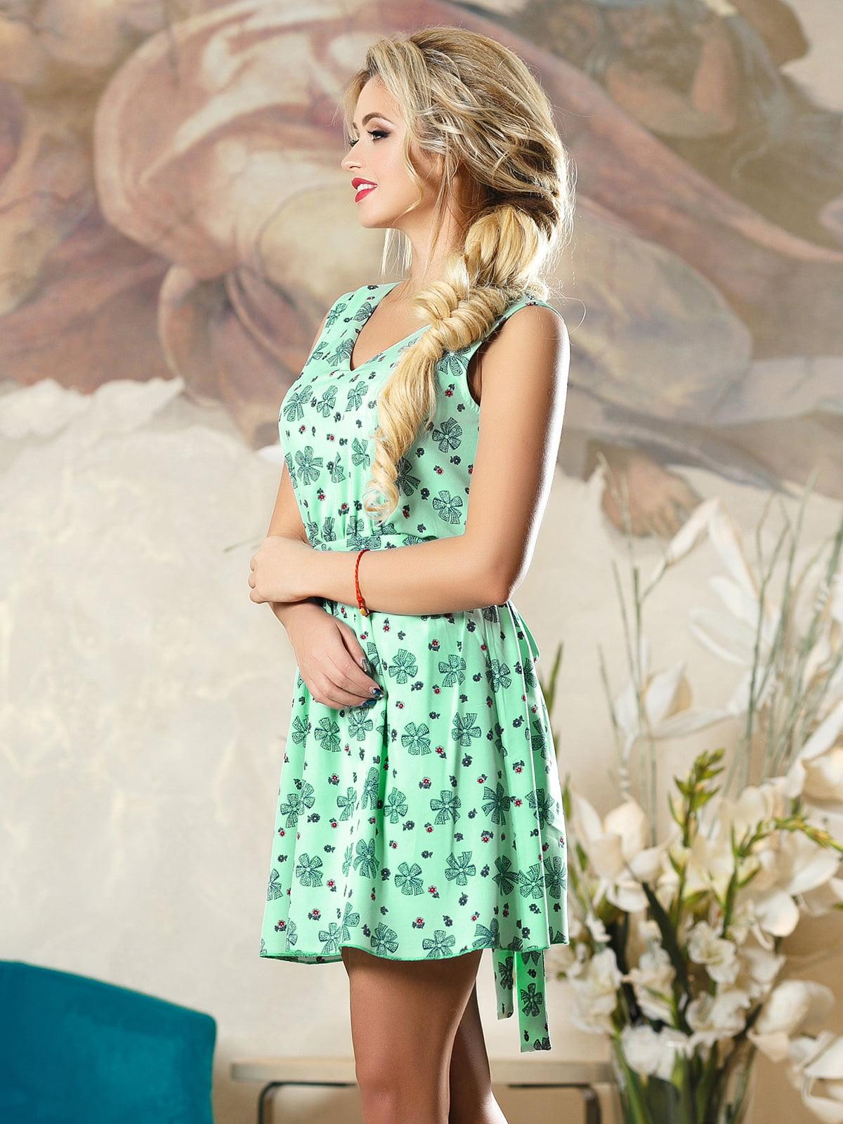 Сукня зелена в принт | 4263098 | фото 3