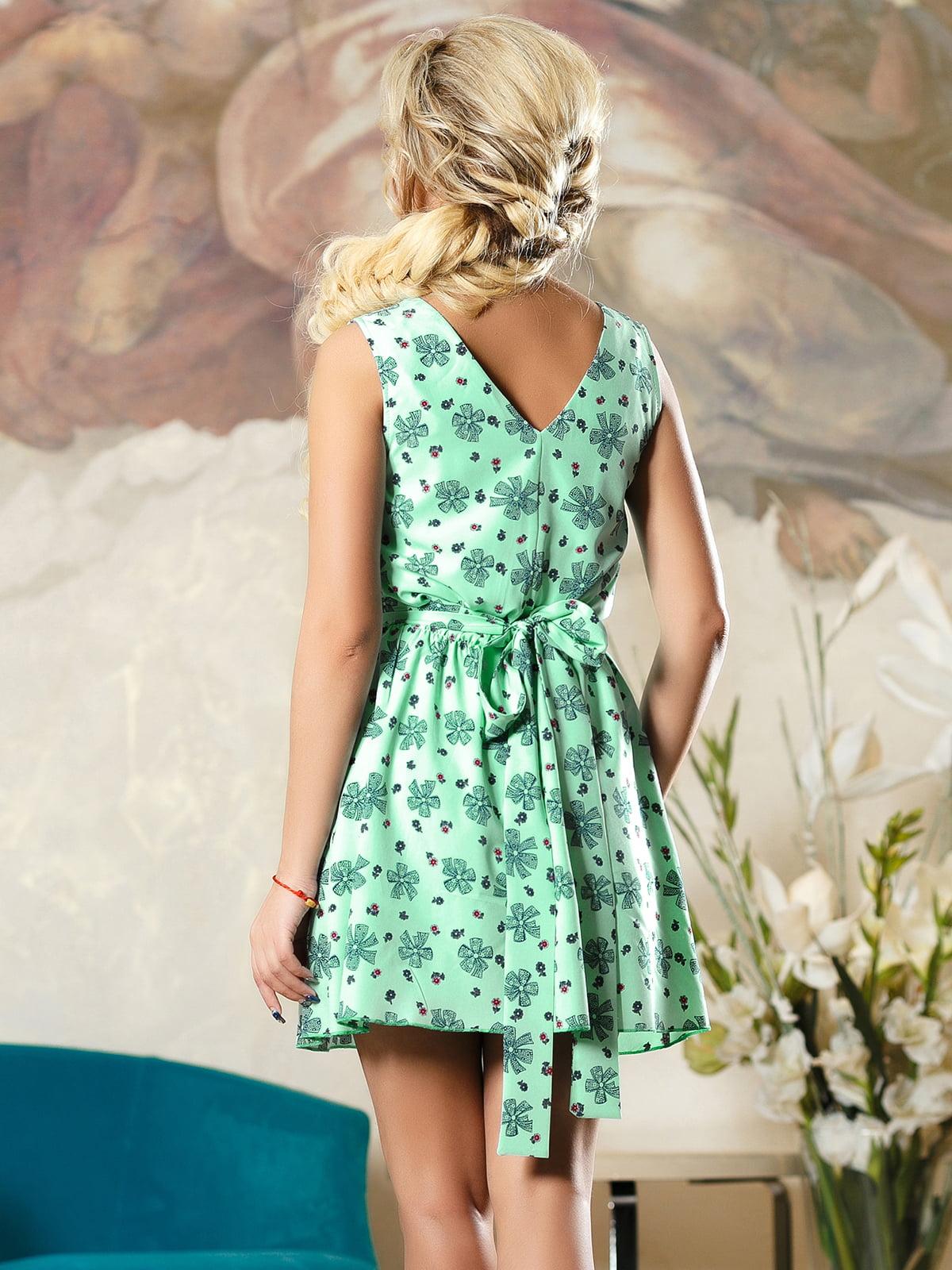 Сукня зелена в принт | 4263098 | фото 4