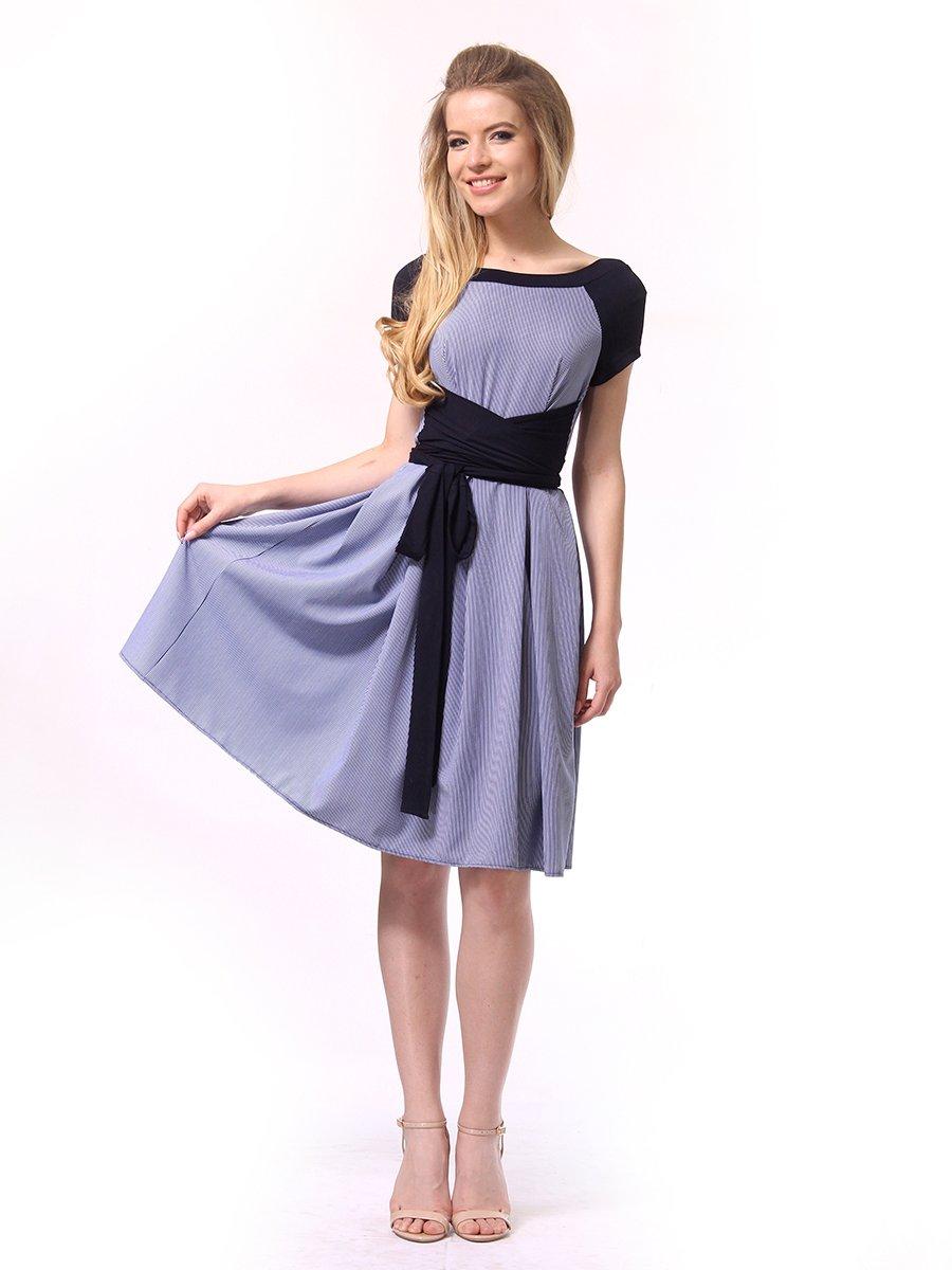 Платье синее в полоску   4249789