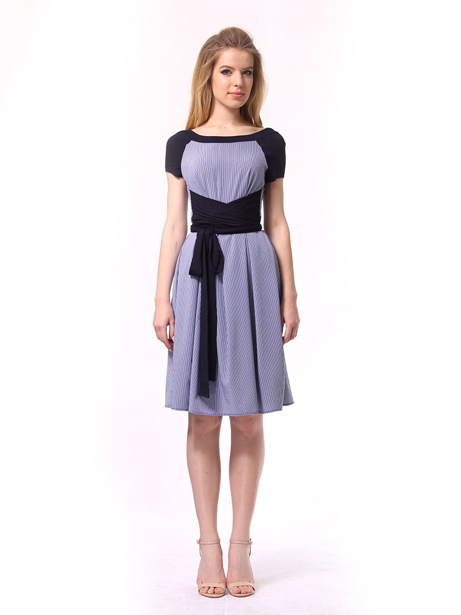 Платье синее в полоску   4249789   фото 2