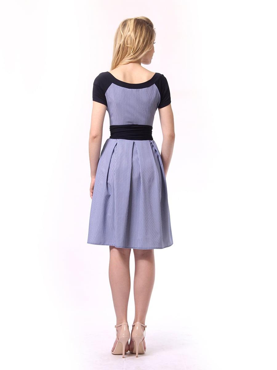 Платье синее в полоску   4249789   фото 3