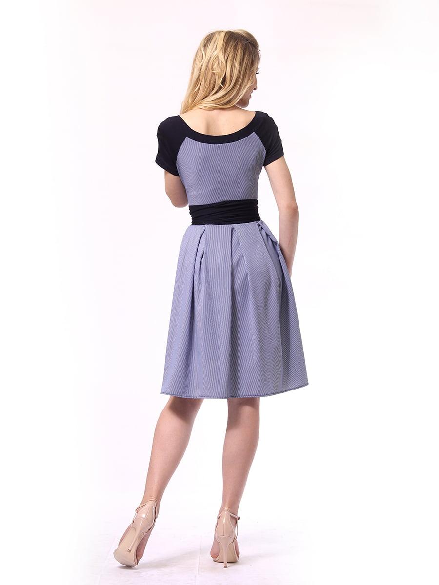 Платье синее в полоску   4249789   фото 4