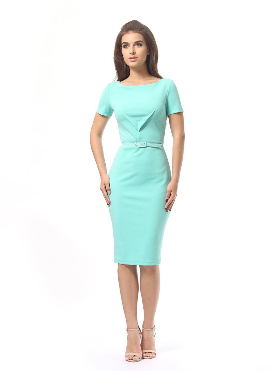 Платье мятного цвета | 4249853 | фото 2