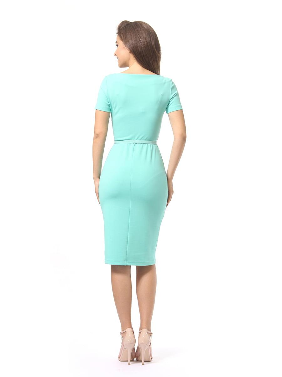 Платье мятного цвета | 4249853 | фото 3