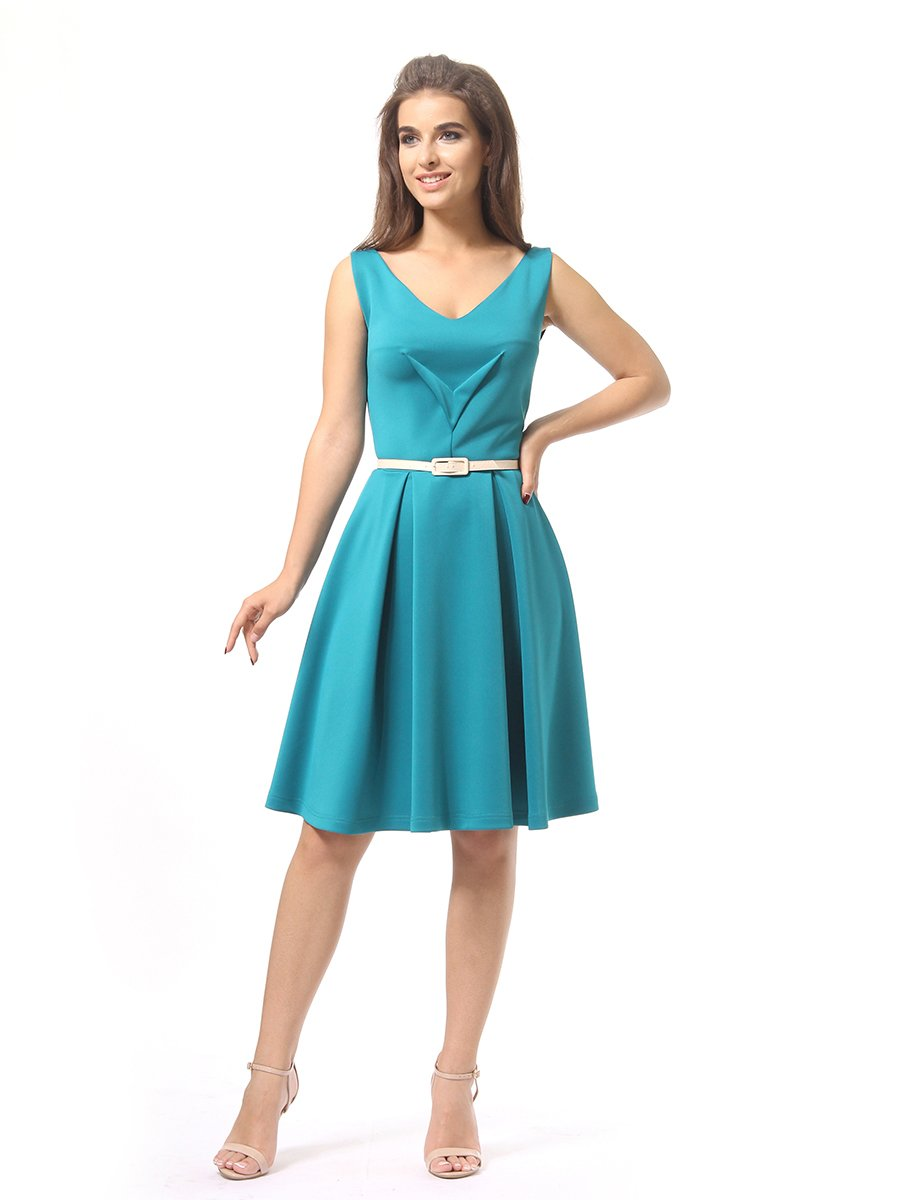Платье бирюзовое | 4249859