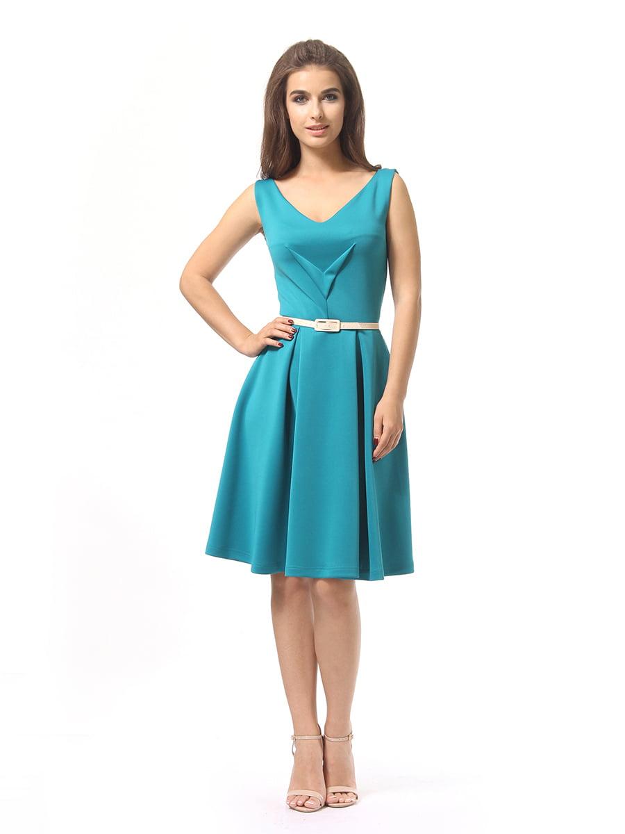 Платье бирюзовое | 4249859 | фото 2