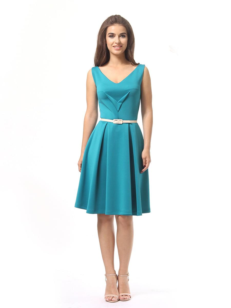 Платье бирюзовое | 4249859 | фото 3