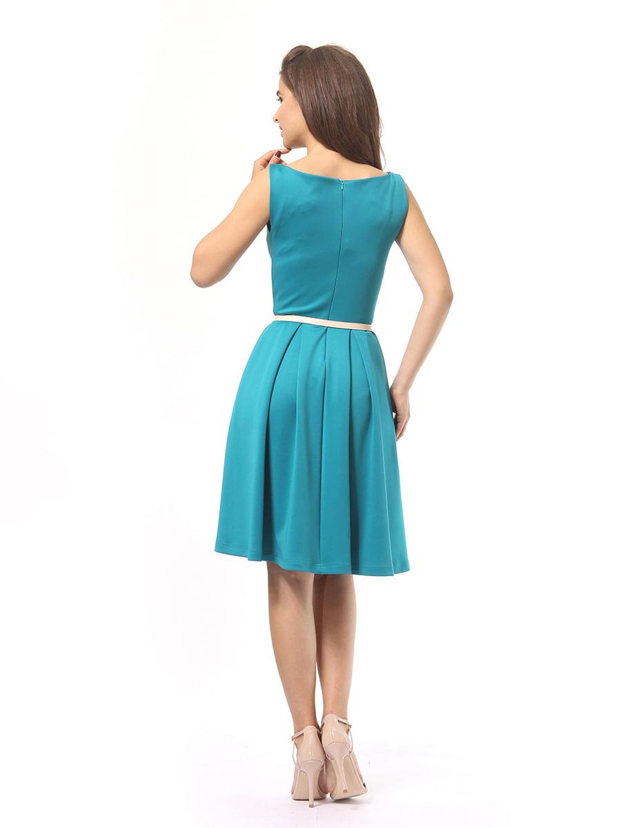 Платье бирюзовое | 4249859 | фото 5
