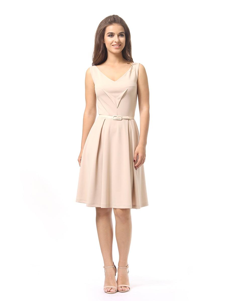Платье бежевое | 4249862 | фото 2