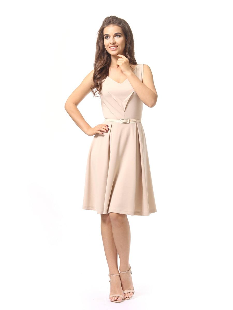 Платье бежевое | 4249862 | фото 3