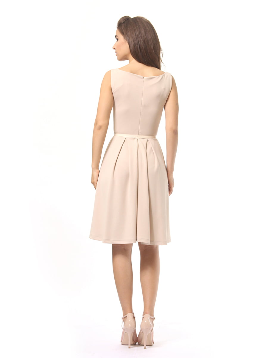Платье бежевое | 4249862 | фото 4