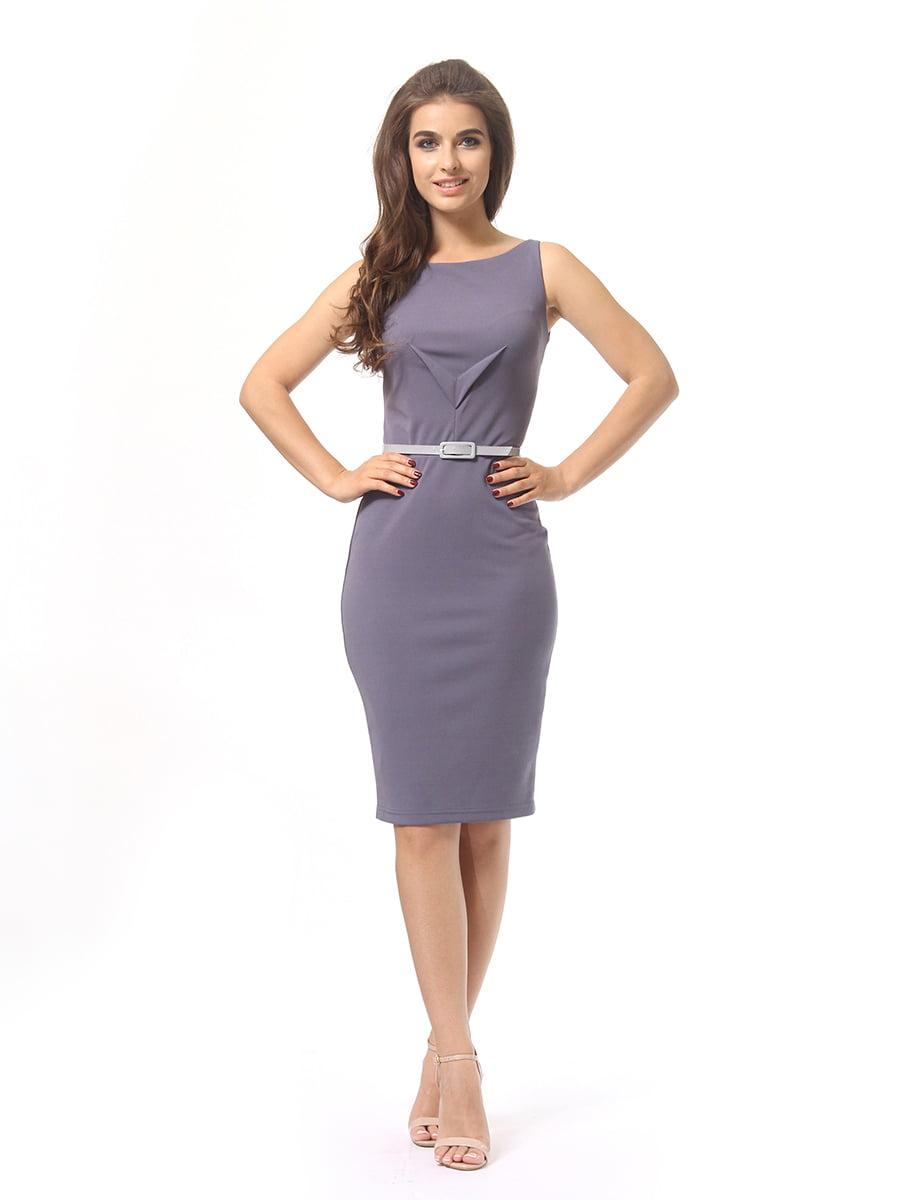 Платье серое | 4249864 | фото 2