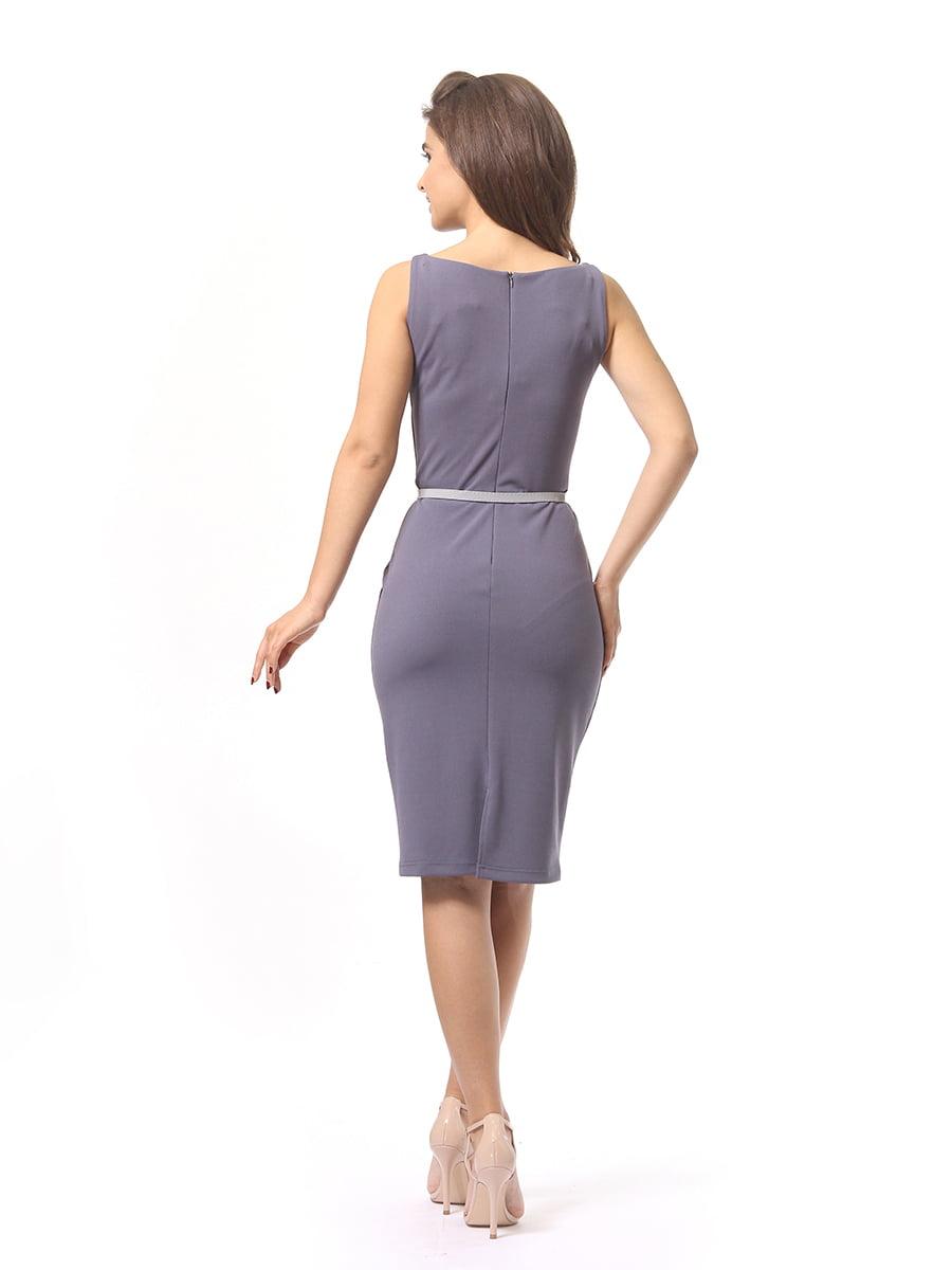 Платье серое | 4249864 | фото 3