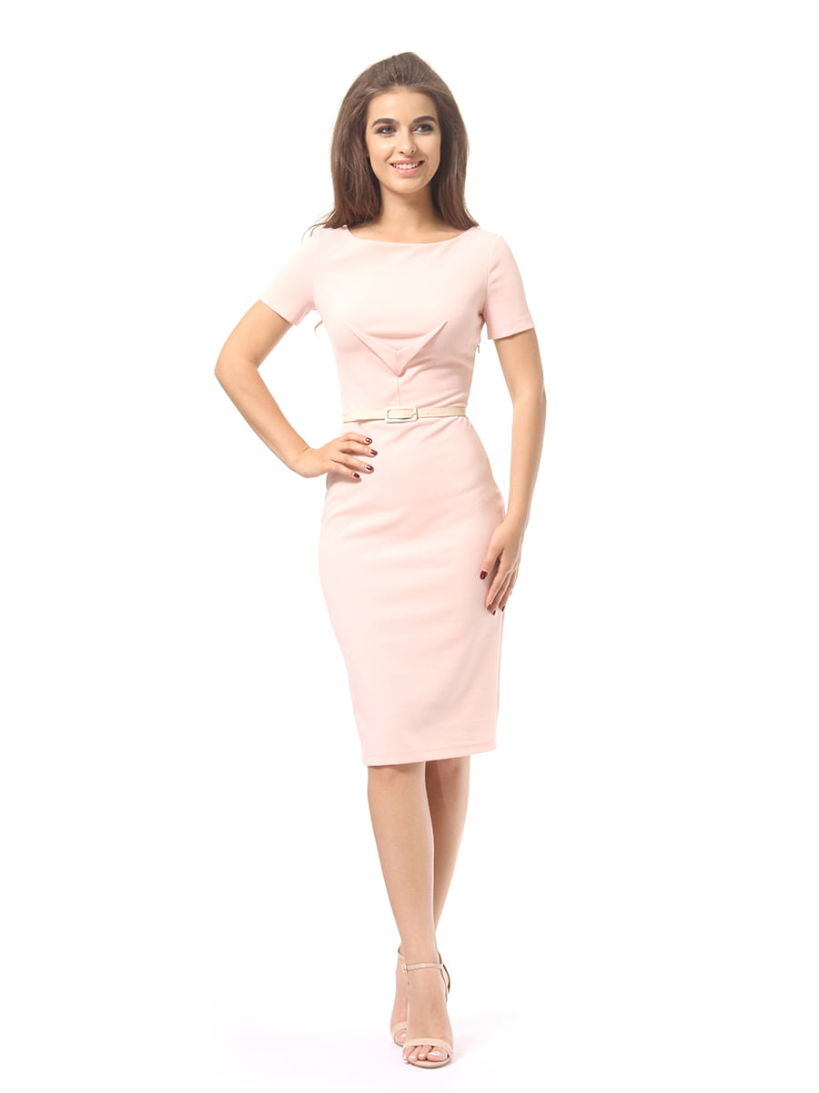 Платье цвета пудры | 4249866 | фото 2