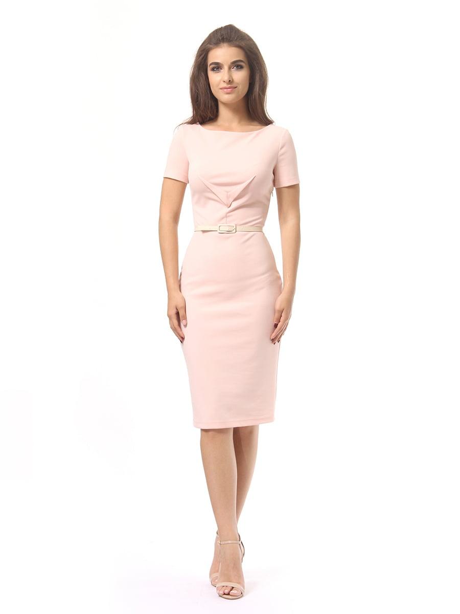 Платье цвета пудры | 4249866 | фото 3