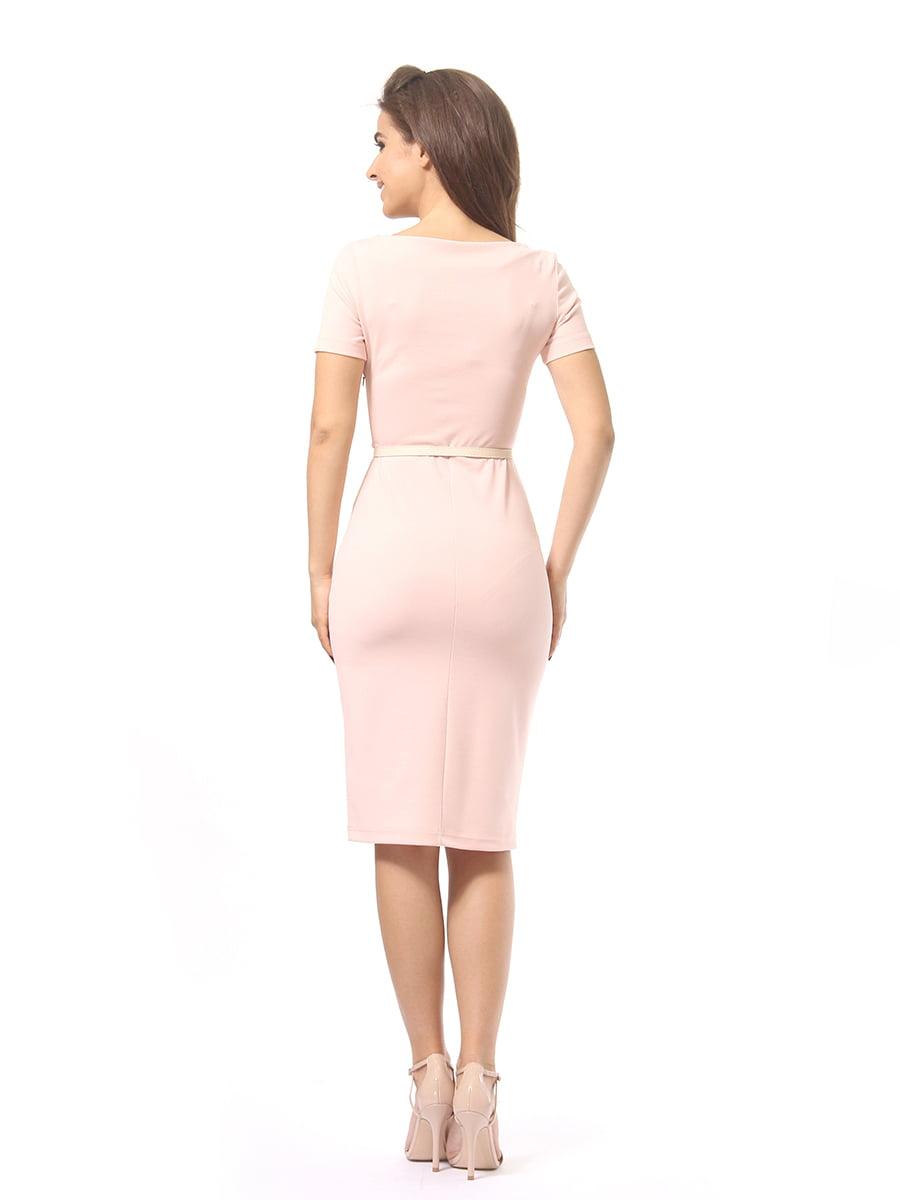 Платье цвета пудры | 4249866 | фото 4