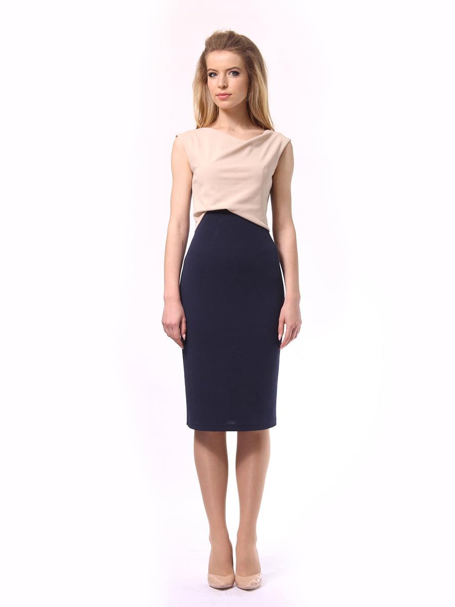 Платье двухцветное | 4249872 | фото 2