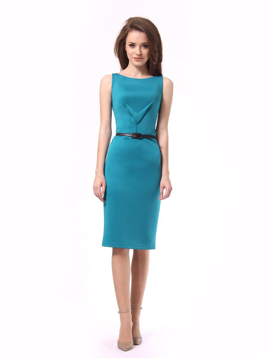 Платье бирюзовое | 4249874 | фото 2