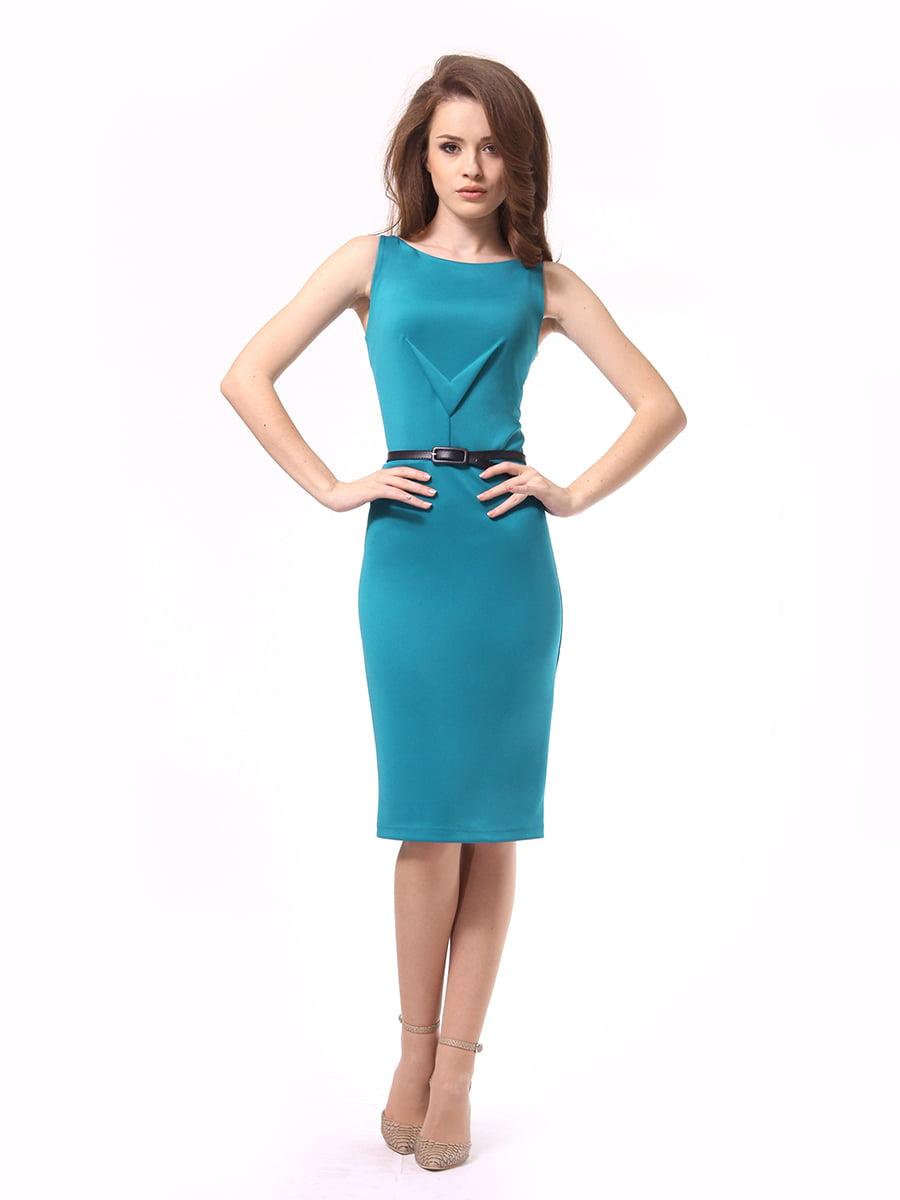 Платье бирюзовое | 4249874 | фото 3