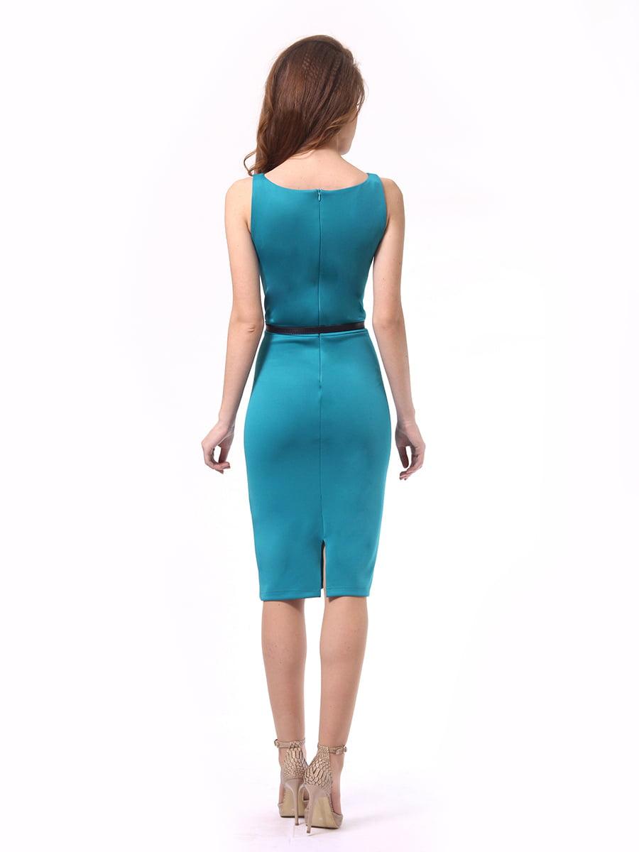 Платье бирюзовое | 4249874 | фото 4
