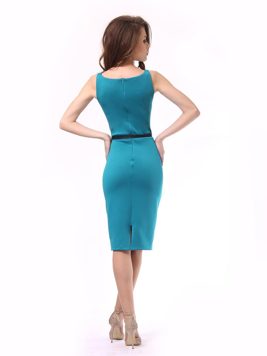Платье бирюзовое | 4249874 | фото 5