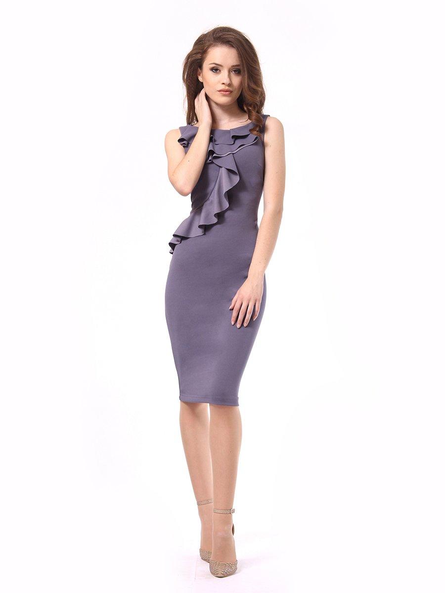 Платье графитового цвета | 4249899