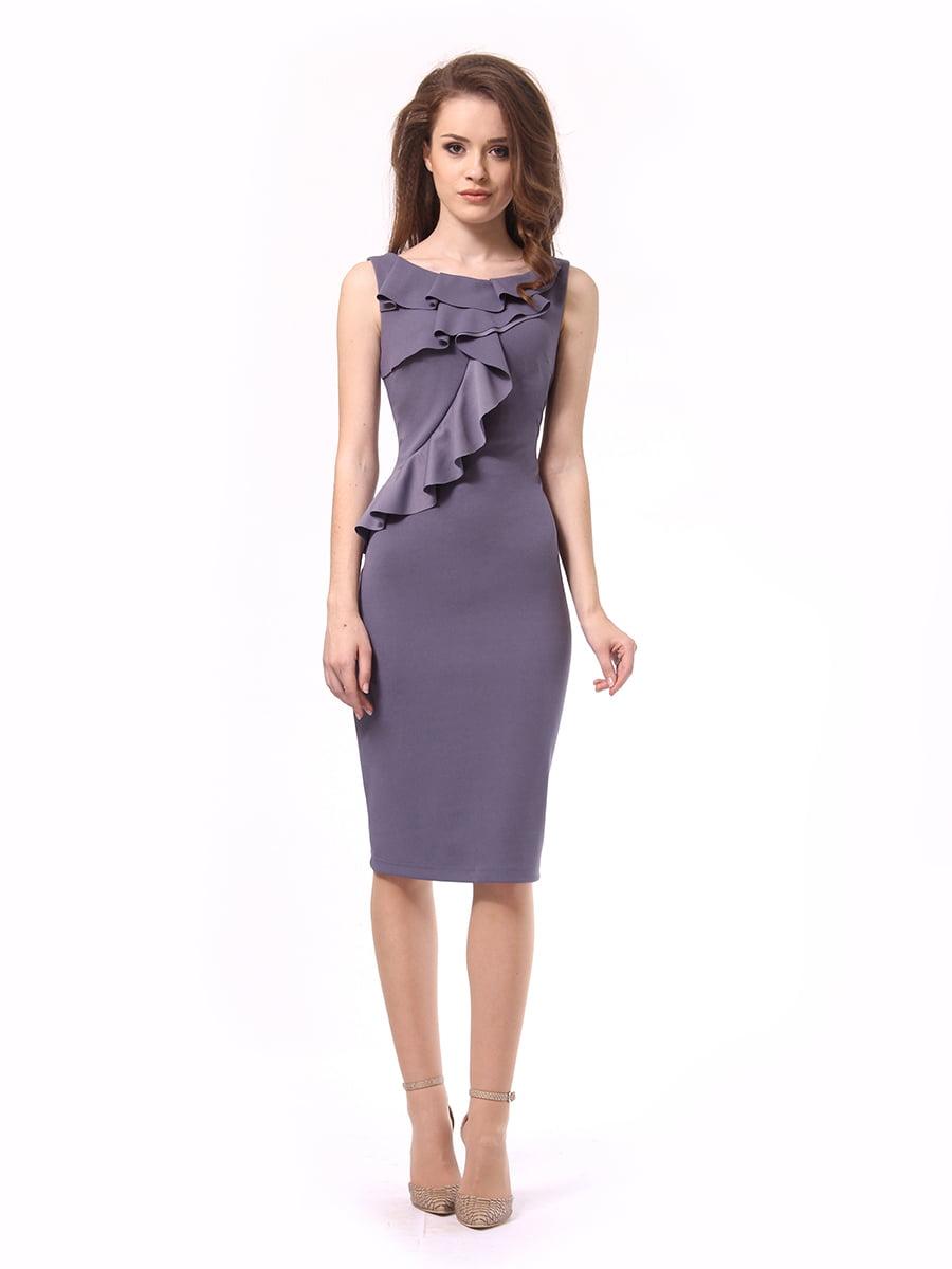 Платье графитового цвета | 4249899 | фото 2