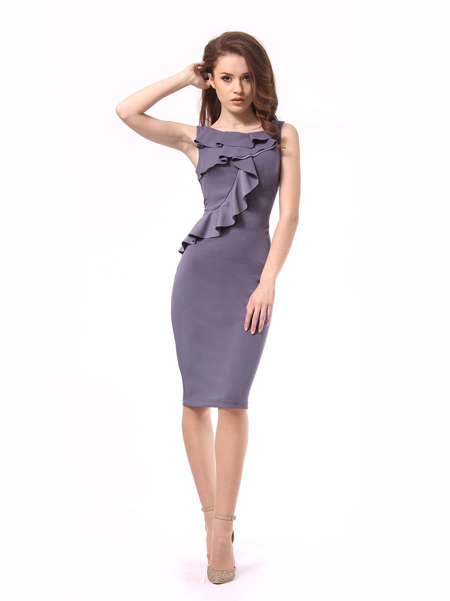 Платье графитового цвета | 4249899 | фото 3